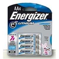 Energizer Battery L91BP-4 Energizer AA Lithium Battery