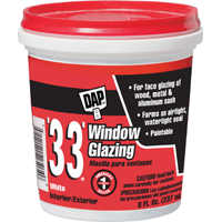 Dap 12120 1/2 Pt White Glazing Compound