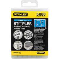 Stanley Tools TRA704-5C Staple 1/4 in HEAVY Duty Bx5000