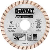 DeWalt DW4724 4 in Hi-Perf Masonry Blade