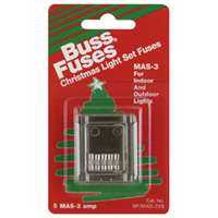 Bussmann Fuses BP/MAS-3X5 Xmas Light Fuses 3a Cd5