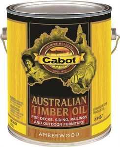 Cabot 3457 Exterior Atustralian Timber Oil Wood Stain Amberwood Flat Finish Gallon