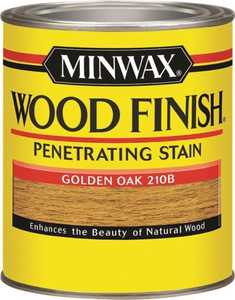 Minwax 70001444 Golden Oak Wood Finish Stain Quart