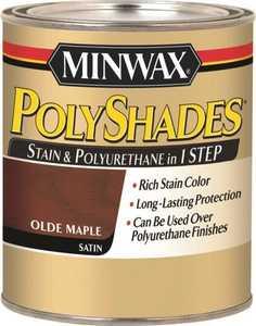Minwax 61330444 PolyShades Olde Maple Stain And Polyurethane Quart