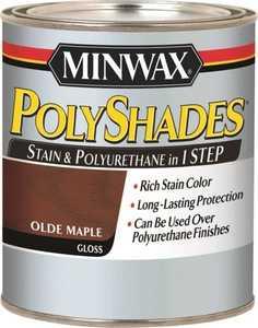 Minwax 61430444 PolyShades Olde Maple Stain And Polyurethane Quart