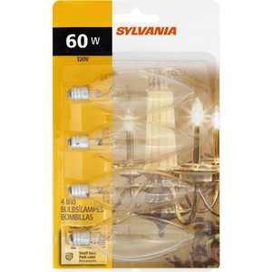 Sylvania/Osram/LEDVANCE 13649 60 Watt B10 Candelabra Incandescent Bulb