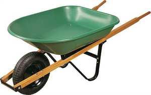 Landscapers Select 34563 4 Cu. Ft. Steel Wheelbarrow