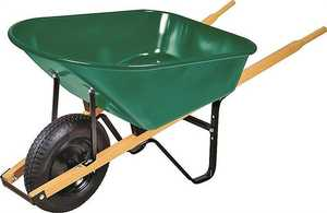 Landscapers Select 34564 6 Cu. Ft. Steel Wheelbarrow