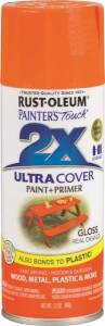 Rust-Oleum 249095 Painter's Touch Spray Paint And Primer Real Orange