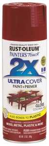 Rust-Oleum 249116 Painter's Touch Spray Paint And Primer Colonial Red