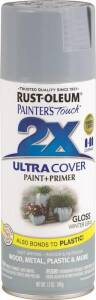 Rust-Oleum 249089 Painter's Touch Spray Paint And Primer Winter Gray