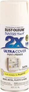 Rust-Oleum 249843 Painter's Touch Spray Paint And Primer Blossom White