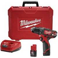 Milwaukee 2407-22 Drill Driver Kit 3/8 In M12