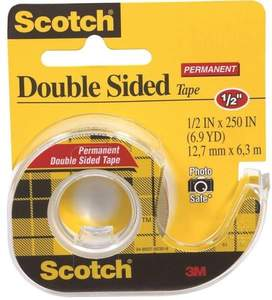 Scotch 136 .5-Inch X 6.9-Yard Permanent Double Sided Tape