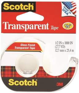 Scotch 174 .5-Inch X 27.7-Yard Transparent Tape