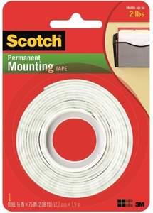 Scotch 110 .5-Inch X 2.08-Yard Permanent Mounting Tape