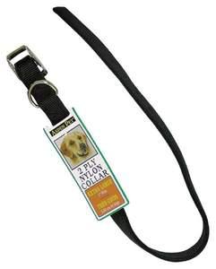 Aspen Pet 21410 1 x 26-Inch Black Nylon Dog Collar