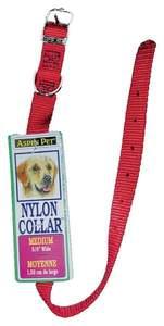 Aspen Pet 15406 5/8 x 14-Inch Red Nylon Dog Collar