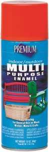 Premium MP1014 Interior/Exterior Multi-Purpose Enamel Spray Paint Danger Orange Gloss Finish 12-Ounce Can