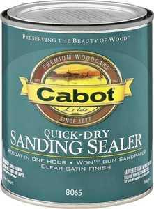 Cabot 8065 Interior Quick-Dry Sanding Sealer Clear Satin Finish Quart