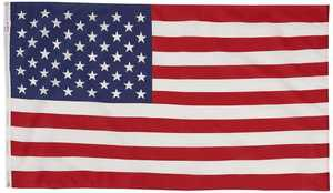 Valley Forge Flag USS-1 3x5-Foot Polycotton American Flag