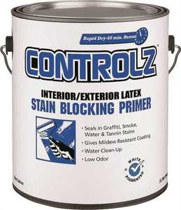Valspar 11925 Controlz Interior/Exterior Stain Blocking Primer White Gallon