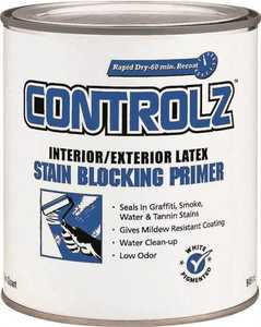 Valspar 11925 Controlz Interior/Exterior Latex Stain Blocking Primer White Qt
