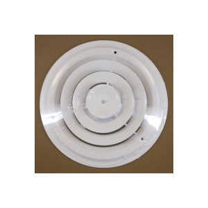 American Metal 1500W8-R 8 in Round Ceiling Diffuser White