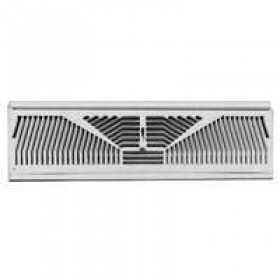 American Metal 3015W15-R White Baseboard Register