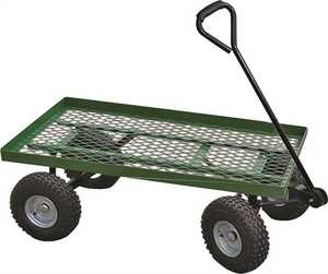Landscapers Select YTL22114 600-Pound Load Capacity Steel Garden Cart With Comfort Grip Handle