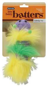 PETMATE, INC/DOSKOCIL 0350481 Itty Bitty Batters Catnip Caterpillar Toy
