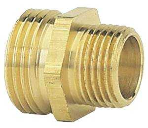 Gilmour 7MH5MP 3/4-Inch X 1/2-Inch Brass Double Male Hose Connector