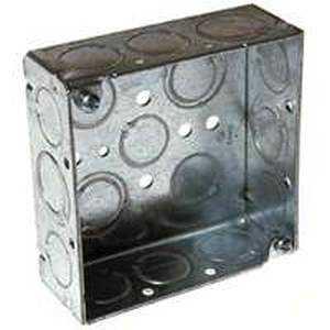 Raco 8189 4 in Sq Box 1-1/2 in Deep Ko