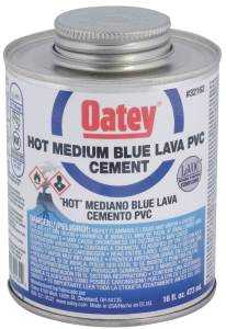 Oatey 32162 Cement Pvc Hot Blue Lava 16 oz