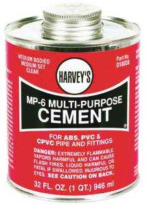 Harvey's 018030-12 Multi-Purpose Cement 32 oz