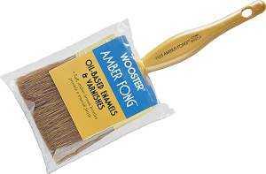Wooster Brush 1123-1 1/2 Paintbrush Amber Fong