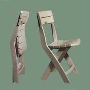 Adams Manufacturing 8575-23-3731 Quik Fold Chair Desert Clay