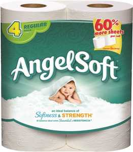 Georgia-Pacific 0151324 Angel Soft 2 Ply Bathroom Tissue Paper 4 Rolls