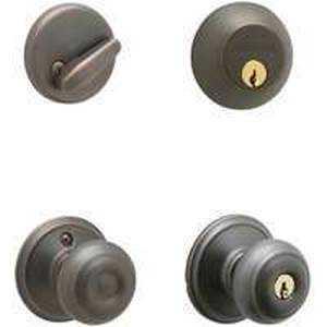 Schlage Lock FB50NVGEO716KA4 Georgian Ent/Dbolt Cmb K4 Abrz
