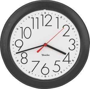 Westclox 461861 10 Round Black Wall Clock