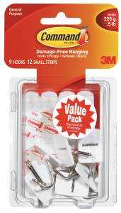 3M 17067-VP Wire Hook Small Value Pack