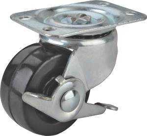 MintCraft JC-H10 2-1/2 in Rbr Plate Caster W/Brk