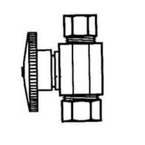Plumb Pak PP2071LF 3/8od Comp X 3/8od Qtr Str Vlv