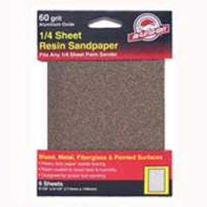 Ali Industries 5033 60grit Aluminum Ox 1/4 Sheet 6pk