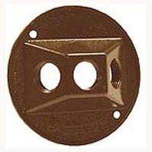 Bell Weatherproof 5197-2 Round Cover 3-1/2 in Bronze