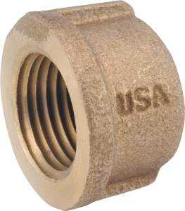 Anderson Metal 738108-06 Pipe Cap Rb 3/8mpt