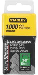 Stanley Tools TRA206T Narrowcrown Stpls 3/8 in 1m Pk