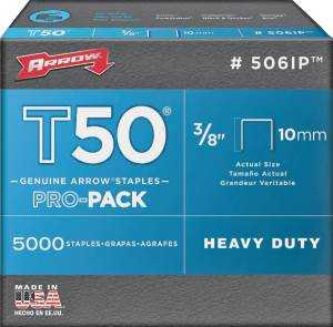 Arrow Fastener Co 506IP 3/8 in T50 Staples