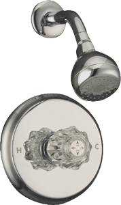 MintCraft GU-F1010207CP Chrm Shower Only Faucet 1hdl