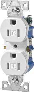 Cooper Wiring TR270W-BOX Tamper Resist Duplex Recept Wh